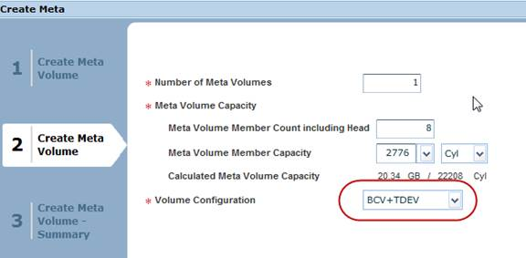 Number of Meta Volumes 1 * Meta Volume Capacity Meta Volume Member Count including Head Meta Volume Member Capacity 2776JJ Calculated Meta Volume Capacity 2034 GB ¡ 222 S Cyl * Volume Configuration B+TDEV